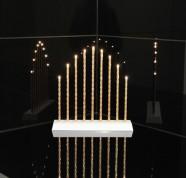 Kuldne küünlajalg Trix 9 LED
