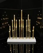 Kuldne küünlajalg Trix 19 LED
