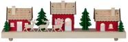 Jõulukaunistus laserlõikega punased majad 3 LED