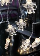 Valguskett inglitega 10 LED 1.35 m