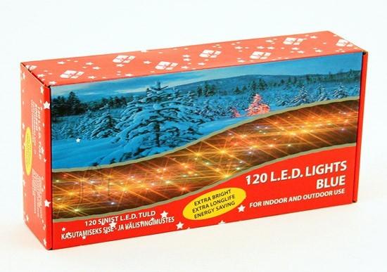 120 LED tulega kett, sinine