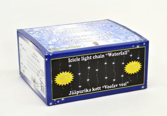 Jääpurika kett Voolav Vesi, 288 valge LED tulega