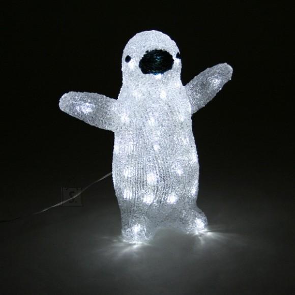 Akrüülist pingviin 40 LED tulega