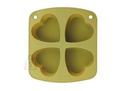 Renberg südamekujuline silikoonist küpsetusvorm 4-le muffinile