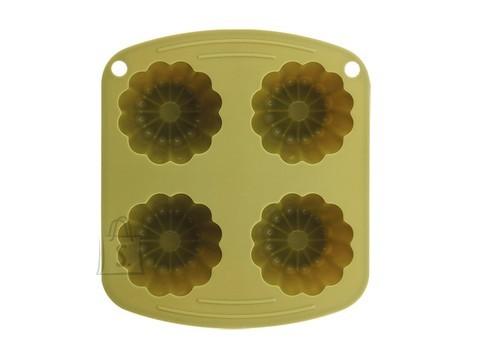 Renberg lillekujuline silikoonist küpsetusvorm 4-le muffinile