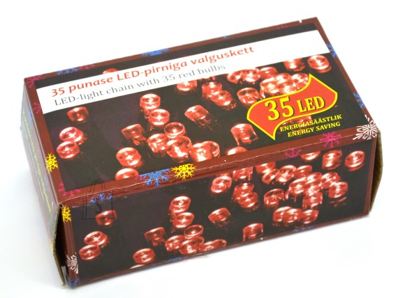35 LED tulega kett, punane