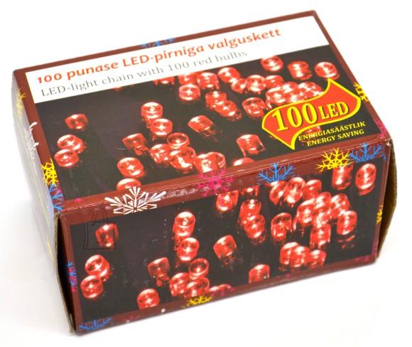 100 LED tulega kett, punane