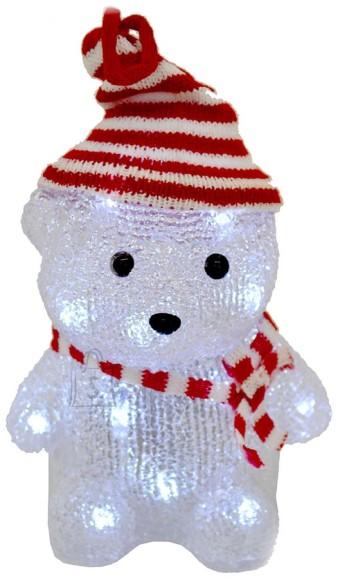 Jõuludekoratsioon Salliga karu, 16 LED-tulega