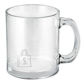 Läbipaistvast klaasist latte kruus 350 ml