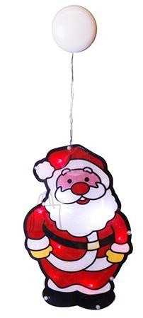 Jõuluvana 8 LED-tulega iminapaga aknale riputatav