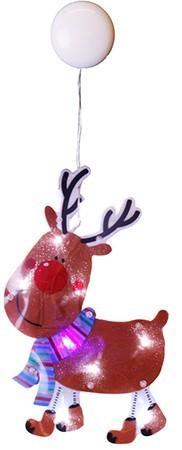 Rudolf 8 LED-tulega iminapaga aknale riputatav