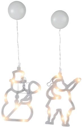 Siluetid 16 LED-tulega Jõuluvana ja Lumememm (2tk)