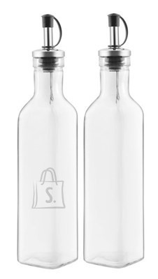 Õli-ja äädika klaaspudelite komplekt