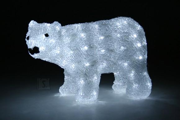 Akrüülist jääkaru 80 LED-tulega