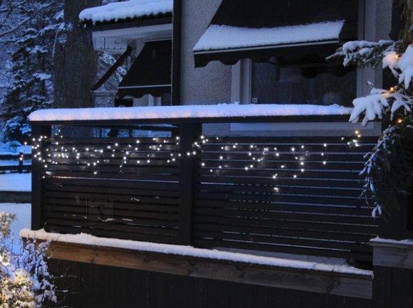 Valguskett Jääpurikad 114 LED-tulega