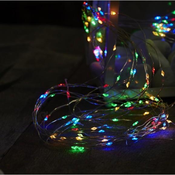 Valguskett Kastetilgad värviliste LED-tuledega