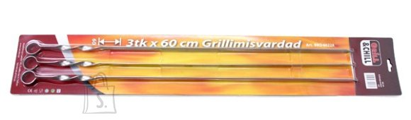 V-profiiliga grillimisvardad 60cm 3tk