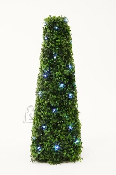Tehislehtedega roheline püramiid 60cm 50 LED tuld