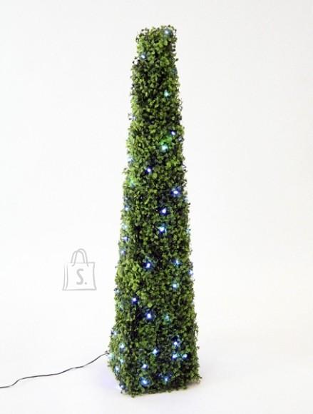 Tehislehtedega roheline püramiid 100cm 100 LED tuld
