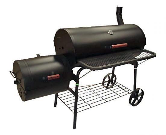 Suitsugrill ja BBQ, 2 kambri ja korstnaga