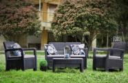 Allibert aiamööbli komplekt Tarifa patjadega, pruun