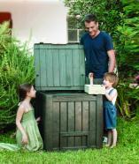 Keter komposter Deco 340L, pruun