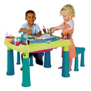 Keter tegevuslaud lastele CREATIVE, heleroheline/türkiissinine