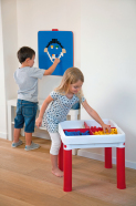 Keter tegevuslaud lastele CONSTRUCT, sinine/punane/valge