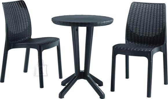 Keter komplekt Bistro laud ja 2 tooli, grafiit