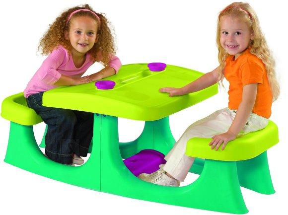 Keter Tegevuslaud lastele PATIO CENTER, heleroheline/türkiissinine