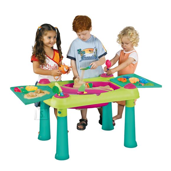 Keter Tegevuslaud lastele SAND & WATER, heleroheline/violet