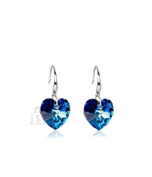 Rippuva sinise südamega kõrvarõngad