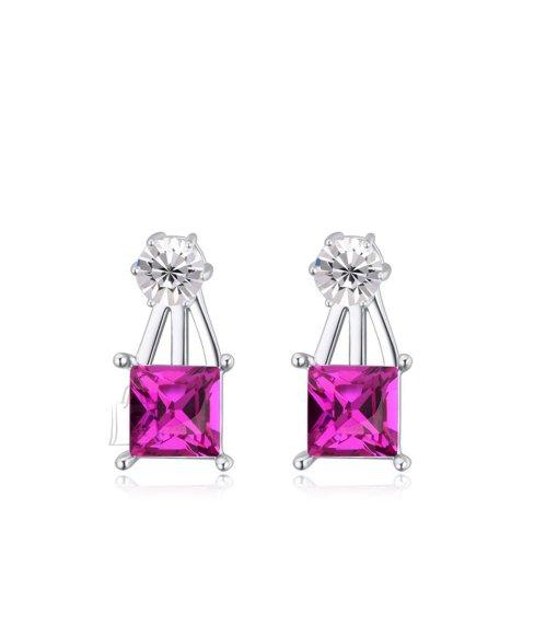 Lilla kristalliga klassikalised kõrvarõngad