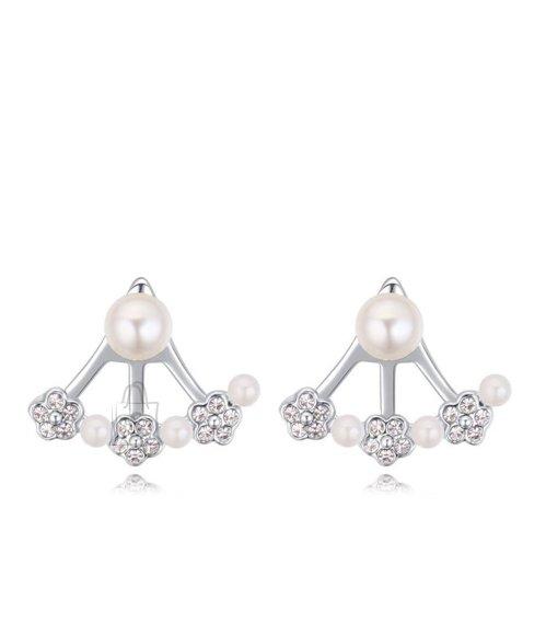 Pärlite ja kristallidega kõrvarõngad