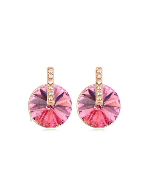 Roosa kristalliga kaunid kõrvarõngad