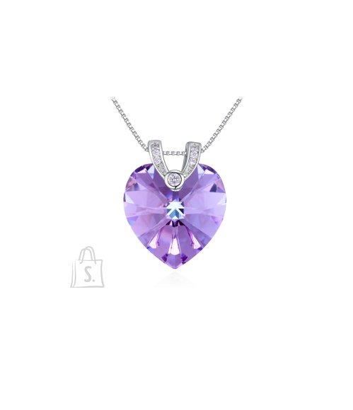 OiOi Violetse südamega kaunis kaelakee