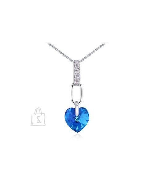 73b7eacbd33 OiOi Sügavsinise südame ja säravate kristallidega kaelakee