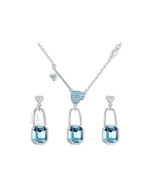 OiOi Helesiniste kristallide ja südametega komplekt