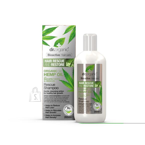 Dr.Organic Kanepi Taastav/juuste väljalangemisvastane shampoon 265ml