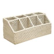 Korv Celeste söögiriistadele 33x14 cm valge
