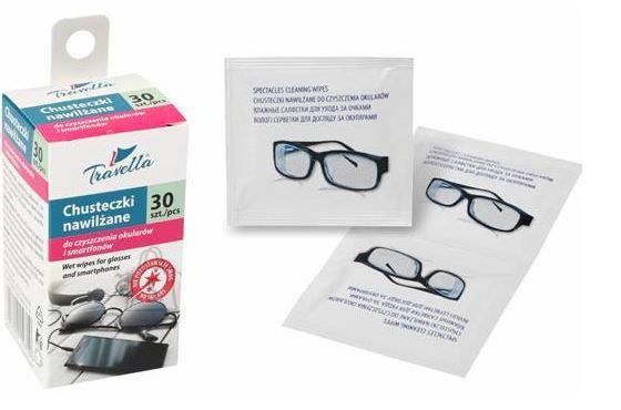 Niisked salvrätikud prillide ja nutitelefonide puhastamiseks, 30 tk