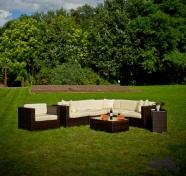 Bello Giardino aiamööbel Metropoli. Mooduldiivan + 2 lauda + tugitool