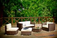 Bello Giardino aiamööbel Discreto. Mooduldiivan + tugitool + tumba + laud