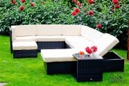 Bello Giardino aiamööbel Riposare. Mooduldiivan + aiavoodi + laud + tumba