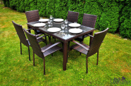 Bello Giardino aiamööbel Secco laud ja 6 tooli