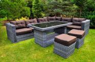 Bello Giardino aiamööbel Maestoso laud + mooduldiivan + 2 tumbat
