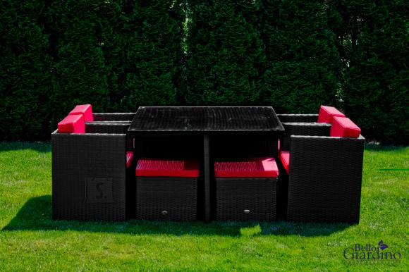 Bello Giardino aiamööbel Delizioso. Laud + 4 tooli + 4 tumbat