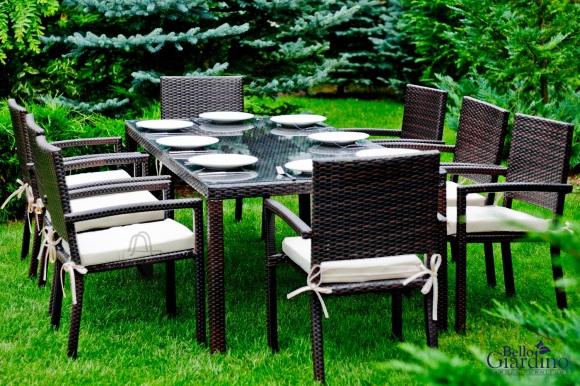 Bello Giardino aiamööbel Ombroso. Laud + 8 tooli