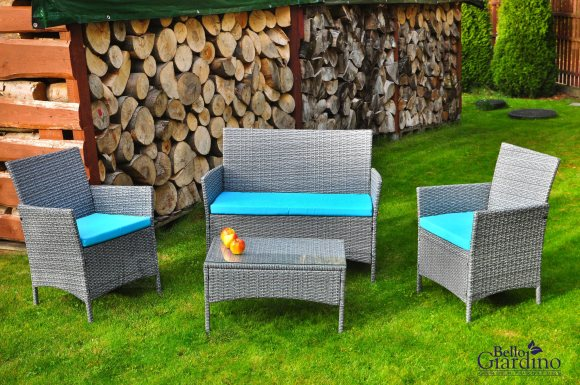 Bello Giardino aiamööbel Dritto. Laud + diivan + 2 tooli