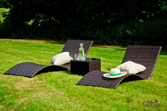 Bello Giardino aiamööbel Successo. Laud + 2 lamamistooli